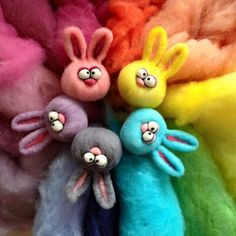 Handmade needle felted bunny. Approximately 4 inches tall including ears. Customize your bunny. Choose colour.The last picture with wool shows the colours available. Just specify in the comments. If there is a colour you want that you dont see let me know we may be able to make it happen.