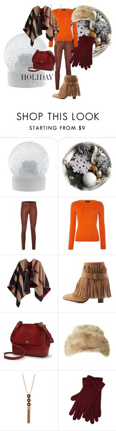 """Leather pants #1"" by russetandolive ❤ liked on Polyvore featuring Wedgwood, rag & bone, Polo Ralph Lauren, Burberry, Charlotte Russe, Ralph Lauren, Ted Baker, Tory Burch, M&Co and holidaystyle"