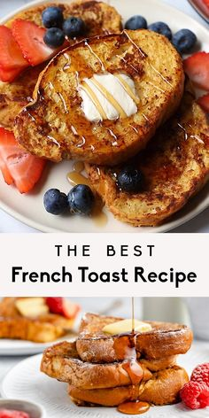 Dairy Free French Toast, Healthy French Toast, Cinnamon Sugar French Toast Recipe, French Toast Recipe With Flour, Fried French Toast Recipe, Almond Milk French Toast, Easy French Toast, Orange French Toast Recipe, Brioche French Toast