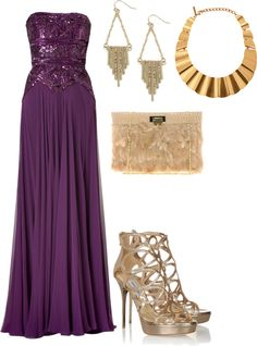 Accessories for purple prom dress