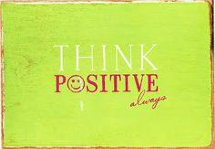 SoPostFun!: 11/16/15 Think Positive Always Postcard Received!