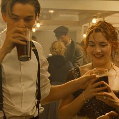 Jack and Rose. They are really drinking root beer.