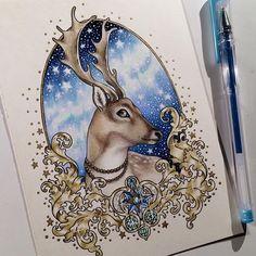 #art #coloring #coloringbook #prismacolor #coloredpencils #vinterdrömmar #hannakarlzon @EMMIJULIN