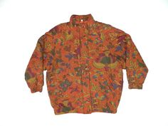 Vintage Abstract Floral Jacket... by ReallyDopeVintage on Etsy