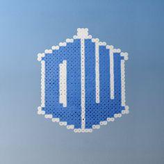 Doctor Who Logo Perler Bead Sprite Car Hanger or by thecraftypixel, $4.00