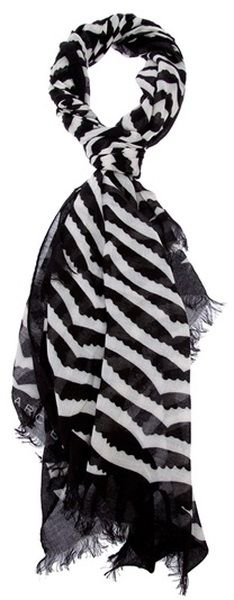 Marc by Marc Jacobs Scalloped Stripe Scarf Striped Scarves, Silk Scarves,  Adidas Shoes Outlet ff20dfc7296