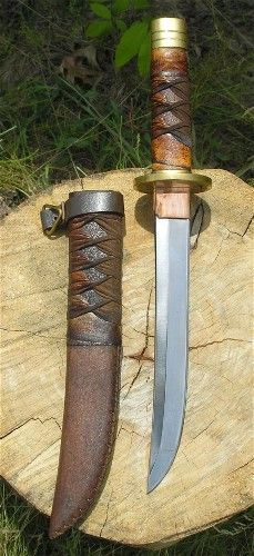 leather wrapped tanto