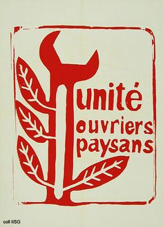French May 1968 - Unité Ouvriers Paysans Protest Posters, Protest Art, Political Posters, Power To The People, People Of The World, Situationist International, General Strike, Propaganda Art, Posters