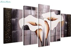 Santin Art Brown Lily Fashion Flower Home Decoration Mixorde Oil Painting on Canvas >>> Learn more by visiting the image link. 5 Piece Canvas Art, Wall Canvas, Canvas Size, Oil Painting Abstract, Artist Painting, Painting Canvas, Diamond Picture, Mosaic Crosses, Paper Wall Art