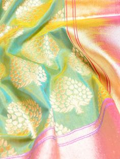 Green Zari Brocade Silk Saree