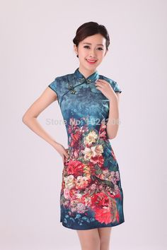 Find More Cheongsams Information about Free Shipping New Arrival Chinese Women's Cotton Mini Cheongsam Qipao Dress Flower Size S M L XL XXL,High Quality dresses bow,China flower girl princess dress Suppliers, Cheap dress xs from XJD Store on Aliexpress.com