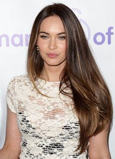Megan Fox – long smooth layers. I like the subtle highlights.