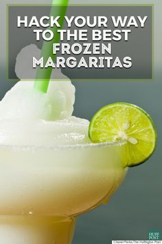 This frozen margarita recipe is great for the warm weather