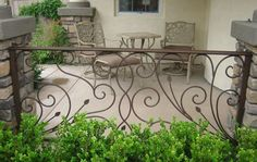 Cheap railing components, Buy Quality railing stone directly from China railing software Suppliers: iron balcony, balustrades, decorative iron railings indoor wrought iron railing forged iron railings, metal ra Wrought Iron Porch Railings, Rod Iron Railing, Front Porch Railings, Wrought Iron Decor, Staircase Railings, Deck Railings, Indoor Railing, Balcony Railing, Porches