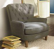Nice tufting. Cozy chair.