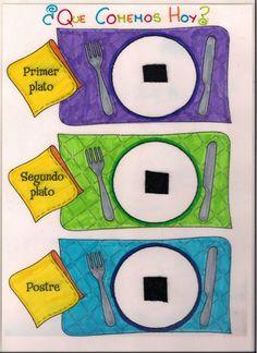 Menta Más Chocolate - RECURSOS PARA EDUCACIÓN INFANTIL: Actividad para trabajar con los Alimentos Learning Spanish For Kids, Teaching Spanish, Fun Learning, Spring Activities, Preschool Activities, Flannel Boards, Primary Education, Class Projects, Science And Nature