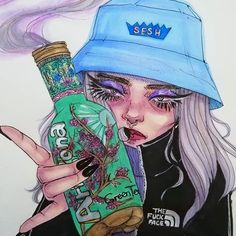 nothing says 2014 better than a bottle of AriZona green tea it looks like u ((: - Arizona Green Teas, Arizona Tea, Bottle Drawing, Vintage Grunge, Psychedelic Art, Gel Pens, Drawing Art, Art Inspo, Aesthetic Wallpapers
