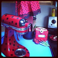 Kitchenaid ladybug. I Made it to match my kitchen.