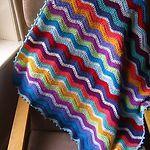 Colourful zig zag crochet blanket