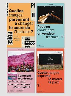 Signs of Peace est une exposition inédite proposée par la HEAD – Genève et dirigée par les designers Ruedi et Vera Baur en collaboration avec l'atelier STTADA dans le cadre des Rencontres de Genève Histoire et Cité.