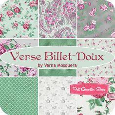 Verse Billet-Doux Fat Quarter Bundle Verna Mosquera for Free Spirit Fabrics