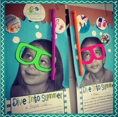 """Could do """"dive into kindergarten"""" for back to school craft!"""