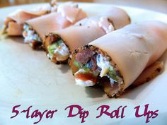 5 layer dip roll ups for gastric bypass patients. See comments for 5 layer dip ingredients. High Protein Low Carb, High Protein Recipes, Low Carb Recipes, Cooking Recipes, Healthy Recipes, Diet Recipes, Diabetic Recipes, Atkins Recipes, Ketogenic Recipes