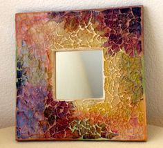 Tempered Glass Mosaic Mirror by PalsCreations on Etsy, $55.00