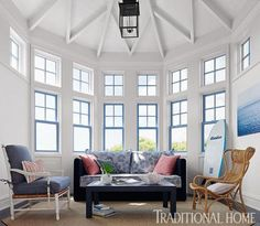 Florida Home with a Cool, Blue Palette   Traditional Home
