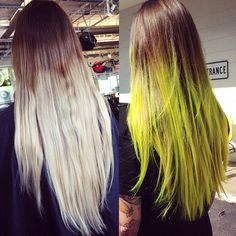 neon hair before and after