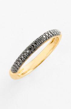 Bony Levy 'Stick' Pavé Black Diamond Ring  For Women