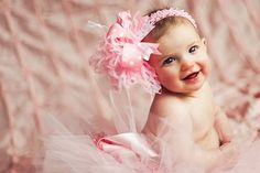 Girls Baby Pink Over The Top Boutique Hair by loveablebabyboutique