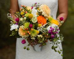 Refreshing and romantic: a rainbow of nature's colors and textures for Nalynn's bridal bouquet at her Tyler wedding - by Buttercup: Love Me Do Photography.