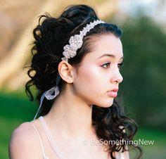 Wedding Head Piece, Rbbon Tie Rhinestone Headband, Wedding Hair Accessory, Rhinestone Headband, Boho Bridal Headpiece, Crystal Headband on Etsy, €44,48