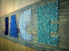 4 Letter Modern String Art Wooden Name Tablet - Made to Order on Etsy, $53.28