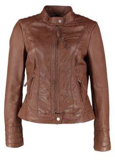 Leather jacket - brown www.zalando.co.uk