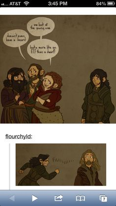 :'( AWWWWW poor Kili! we love you more than any of those silly dwarves. And which one of you all is to be King of Erebor? Just think when your king you can hunt those slobery mangy stupid poachers from dawn until dusk.