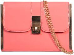 a668022d43 Cute and Fresh UKFS Patent Gold Clasp Clutch Bag Handbag - Coral