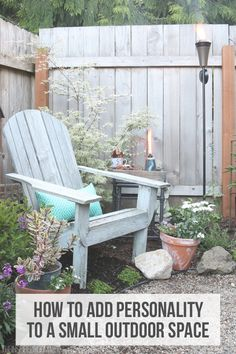 Even if you are a city or apartment dweller, if you have a small deck, patio or backyard that is lacking in personality or functionality, why not put your own creative stamp on it and make it more comfortable just in time for the warm sunny days ahead? It might be easier and more doable than you think. Here are some great ways you can furnish and jazz up any small outdoor space.