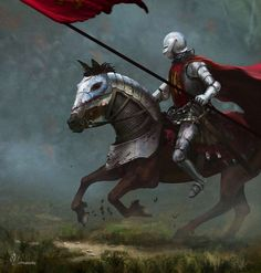 War Huh by jjpeabody knight soldier platemail armor horse barding lance…