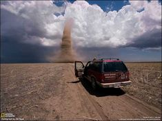 National Geographic is lying to us. They say it's a 4,000-foot tall twister in Kansas.