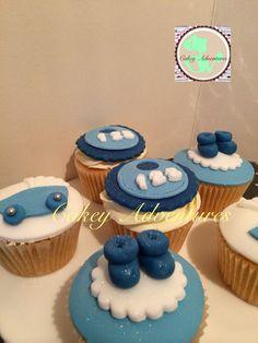 Baby boy cupcakes :)