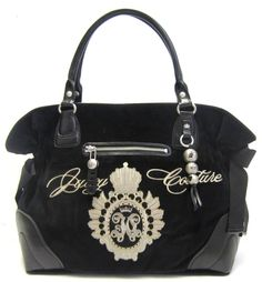 Juicy Couture Large Tote in Black (JUICY HANDBAGS, PURSES, BAGS, TOTES)
