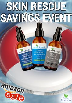 Erase the sins of Summer and rescue your skin during Azure Naturals Skin Rescue Savings Event! Amazing Amazon deals for you the entire month of September! Get Glowing and check out the savings today! #azurenaturals #sale #savings #summer #skincare #organic #natural