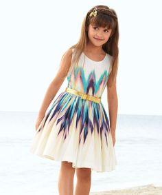 Ivory Ikat Party Dress - Toddler & Girls