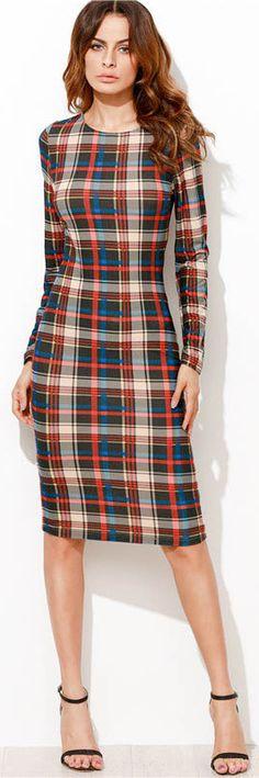 TWILIGHT PLAID DRESS