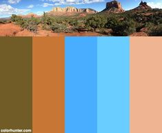 Wide View Of Sedona Red Rock Country Color Scheme