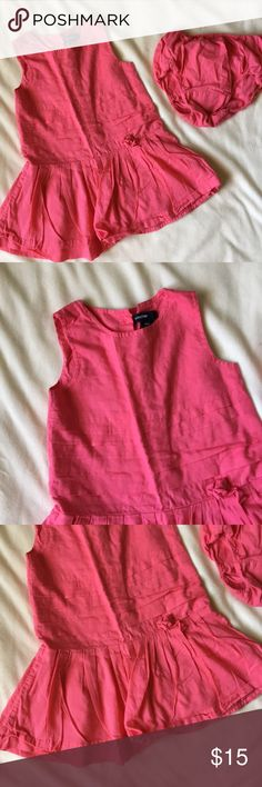 New Baby Gap Size 6-12 Months Red Gingham Bloomers Nwt