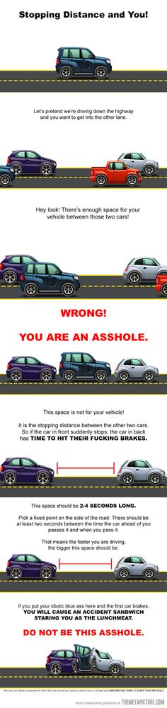 Stopping distance and you…It is sad that this needs to be explained...