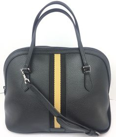 e1a41ff0bcc2 Authentic New Gucci Black Leather Web Stripe Medium Dome Crossbody #420023,  NWT #Gucci